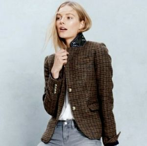 J.Crew Plaid and Bejeweled Schoolboy blazer!!